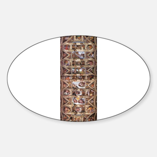 Sistine Chapel Ceiling Sticker (Oval)
