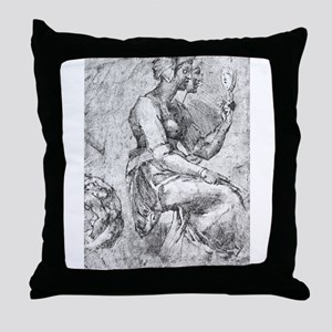 Study of a Seated Woman Throw Pillow