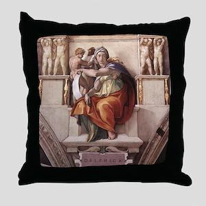 The Delphic Sybil Throw Pillow
