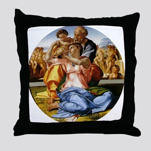 The Holy Family with Infant S Throw Pillow