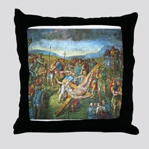 The Martyrdom of St Peter Throw Pillow