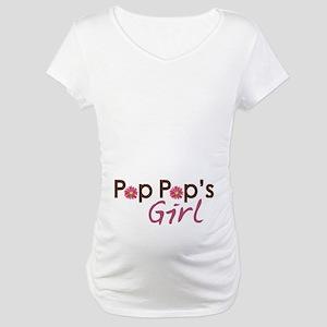 Pop Pop's Girl Maternity T-Shirt