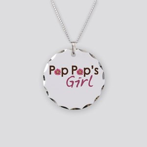 Pop Pop's Girl Necklace Circle Charm