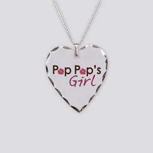 Pop Pop's Girl Necklace Heart Charm