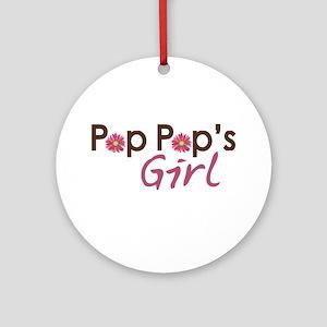 Pop Pop's Girl Ornament (Round)