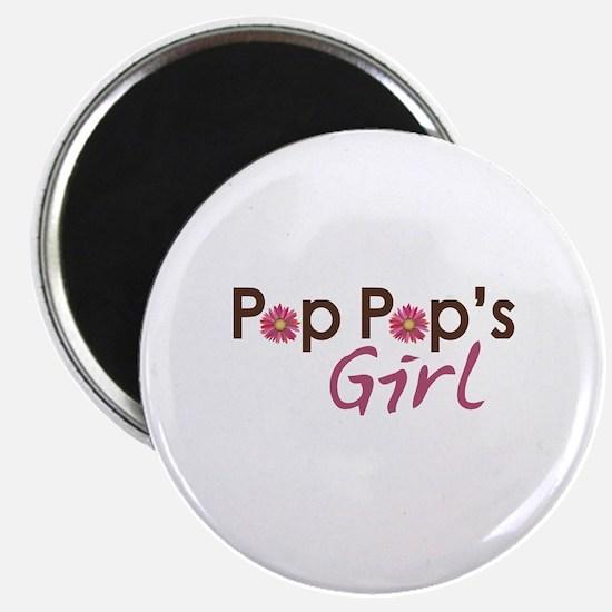 """Pop Pop's Girl 2.25"""" Magnet (10 pack)"""