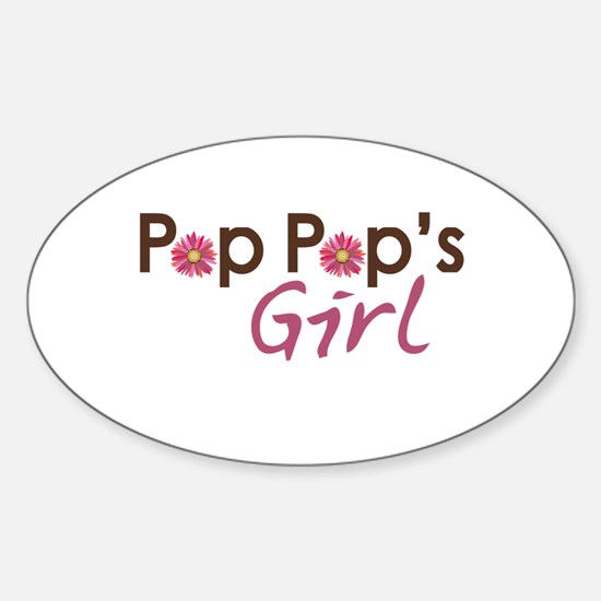 Pop Pop's Girl Sticker (Oval)