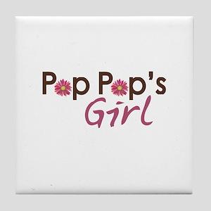 Pop Pop's Girl Tile Coaster