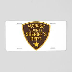 Monroe County Sheriff Aluminum License Plate