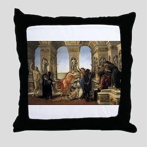 Calumny of Apelles Throw Pillow