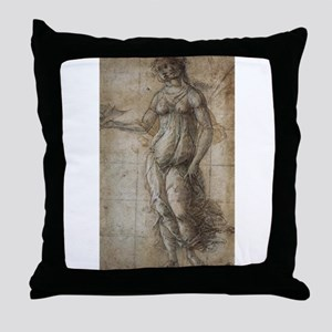 Drawing of Pallas Throw Pillow