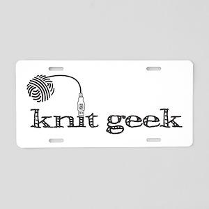Knit geek Aluminum License Plate
