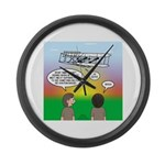 Flying the Wright Flyer Large Wall Clock