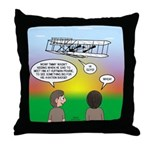 Flying the Wright Flyer Throw Pillow