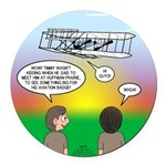 Flying the Wright Flyer Round Car Magnet