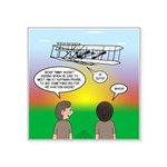 Flying the Wright Flyer Square Sticker 3
