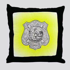 Utica Police Throw Pillow