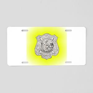 Utica Police Aluminum License Plate
