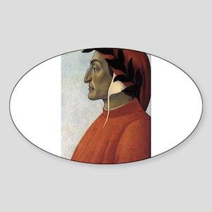 Portrait of Dante Sticker (Oval)
