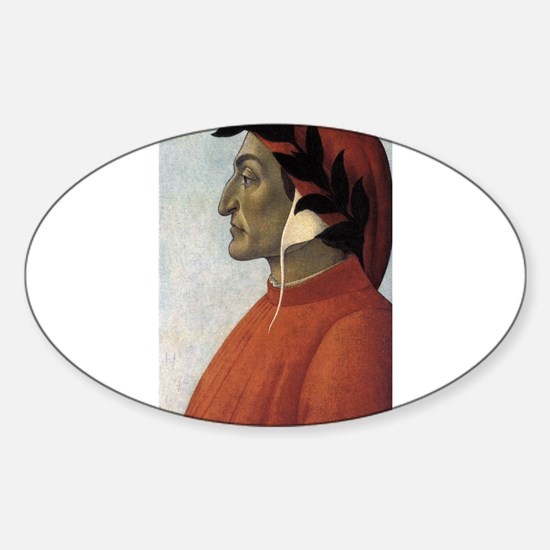 Portrait of Dante Sticker (Oval)