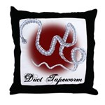 Duct Tapeworm Throw Pillow