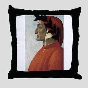 Portrait of Dante Throw Pillow