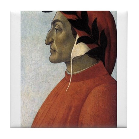 Portrait of Dante Tile Coaster