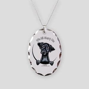 Black Lab IAAM Necklace Oval Charm