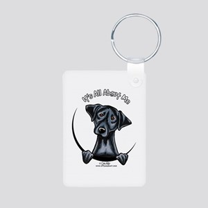 Black Lab IAAM Aluminum Photo Keychain