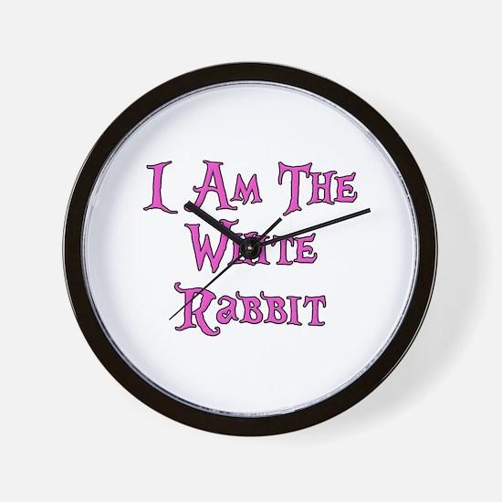 I Am The White Rabbit Follow Me Wall Clock