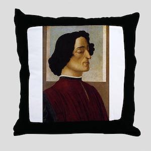 Portrait of Giuliano de Medic Throw Pillow