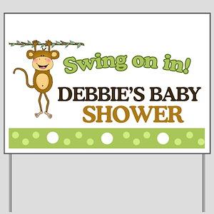 Monkey Baby Shower Yard Sign Personalized