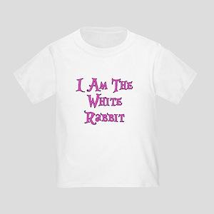 I Am The White Rabbit Follow Me Toddler T-Shirt