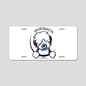 Old English Sheepdog IAAM Aluminum License Plate
