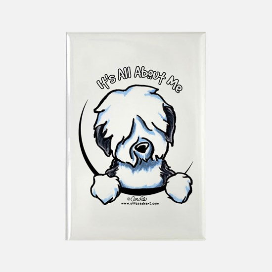Old English Sheepdog IAAM Rectangle Magnet