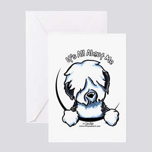 Old English Sheepdog IAAM Greeting Card
