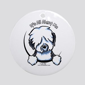 Old English Sheepdog IAAM Ornament (Round)