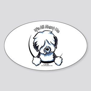 Old English Sheepdog IAAM Sticker (Oval)