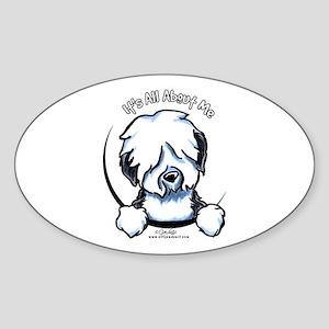Old English Sheepdog IAAM Sticker (Oval)