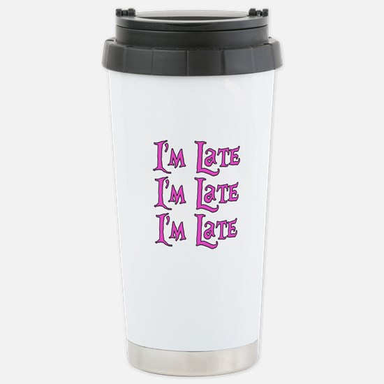 I'm Late Alice in Wonderland Stainless Steel Trave