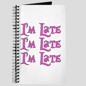 I'm Late Alice in Wonderland Journal