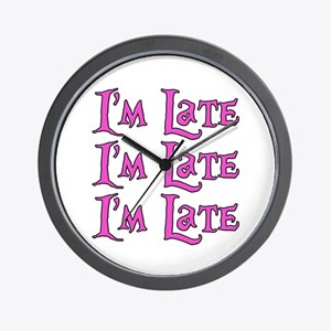 I'm Late Alice in Wonderland Wall Clock