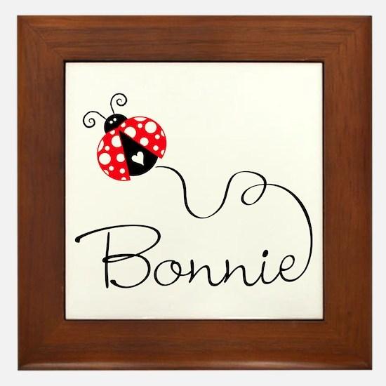 Ladybug Bonnie Framed Tile