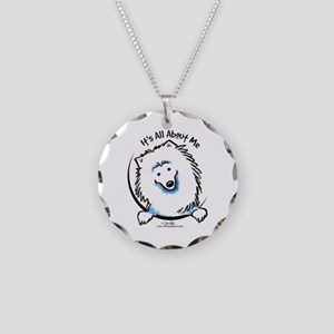 Spoiled Eskie Necklace Circle Charm