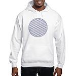 Hooded sweatshirt with Flower of Life