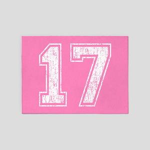 Pink Retro 17 5'x7'Area Rug