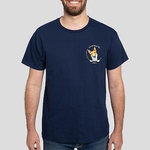 Fawn Corgi IAAM Pocket Dark T-Shirt