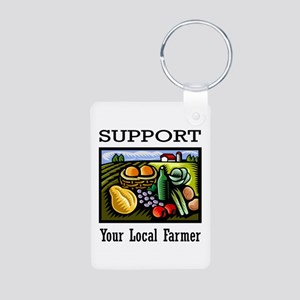Support Your Local Farmer Aluminum Photo Keychain