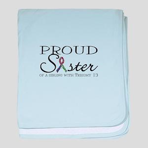 Proud T13 Sister baby blanket