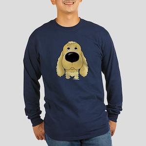 Big Nose Cocker Long Sleeve Dark T-Shirt